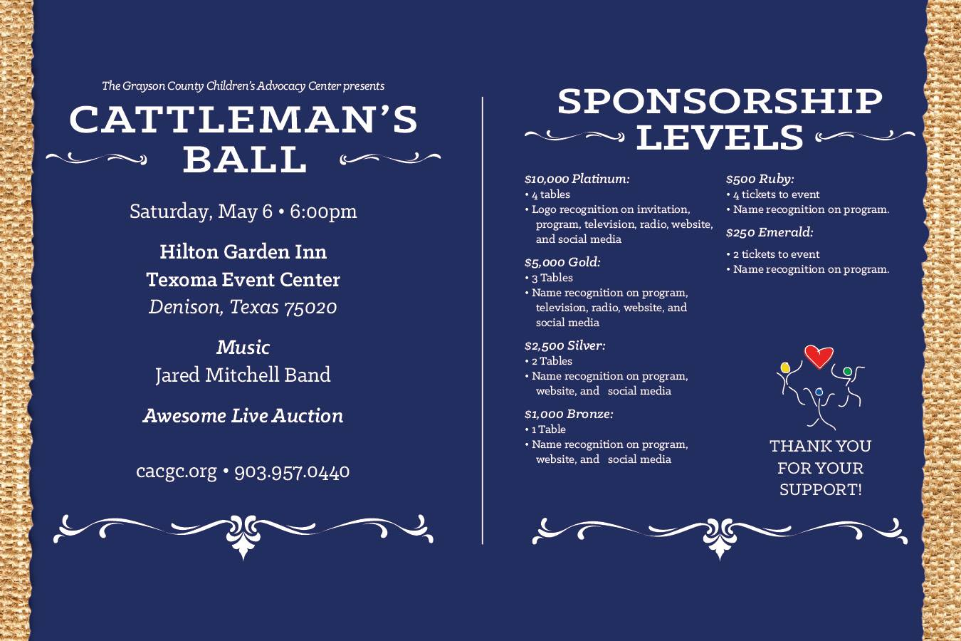 CattlemansBall - The Children's Advocacy Center Of Grayson County - Gold Star Finance Of Texas