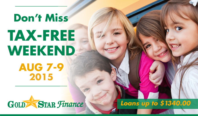 Back to School & Tax Free Weekend 2015